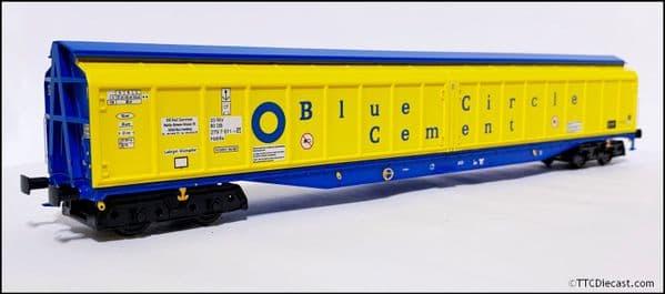 HELJAN 5024 Cargowaggon IWB Bogie Van Blue Circle Cement, OO Gauge