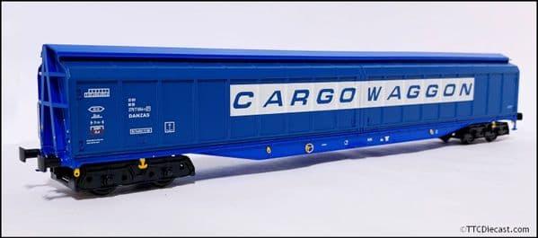 HELJAN 5027 Cargowaggon IWB Bogie Van Slate Blue, OO Gauge