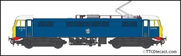 HELJAN 8652 Class 86 BR blue E3178 with FYE, white cab roof, OO Gauge
