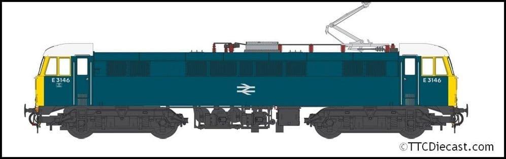 HELJAN 8653 Class 86 BR Rail blue E3146 BR logo, FYE, white cab roof, OO Gauge