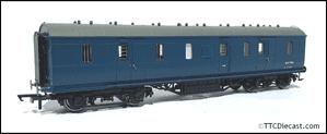 Hornby R4606 London, Midland & Scottish Railway 50ft Brake Gangwayed 'M31176M', BR Blue