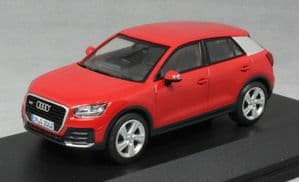 iScale 5011602632 - 1:43 Scale Audi Q2 Tango Red - Audi Dealer Packaging