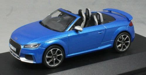 iScale 5011610532 - 1:43 Scale Audi TT RS Roadster Ara Blue - Audi Dealer Packaging