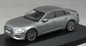 iScale 5011806131 - 1:43 Scale Audi A6 Taifun Grey - Audi Dealer Packaging