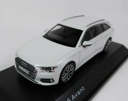 iScale 5011806231 - 1:43 Scale Audi A6 Avant Glacier White - Audi Dealer Packaging