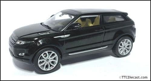 IXO LRDCA3EVOQB - 1:43 Scale Range Rover Evoque - Santorini Black, Beige interior