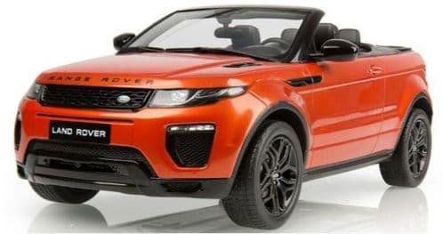 Jaguar Land Rover LDDC006ORW - 1:18 Scale Range Rover Evoque 2dr Convertible- Orange