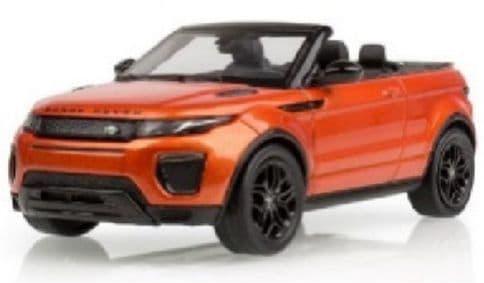Jaguar Land Rover LDDC008ORY - 1:43 Scale Range Rover Evoque Convertible Orange