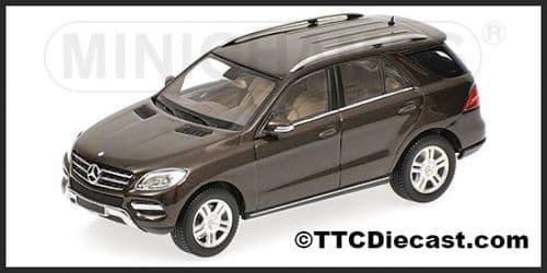 MINICHAMPS 400 030101 - Mercedes M Class 2011 - Brown Metallic