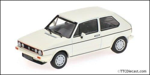 MINICHAMPS 400 055171 - VW Golf GTI - 'Pirelli' - 1983 White