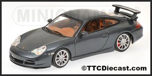 MINICHAMPS 400 062025 - Porsche 911 GT3 2003 - Grey Metallic