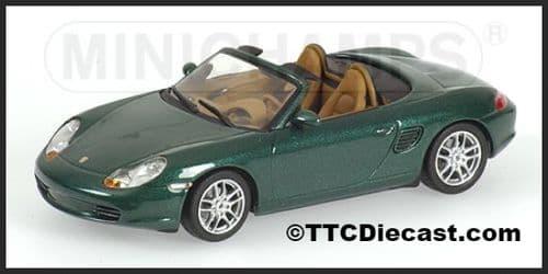 MINICHAMPS 400 062034 - Porsche Boxster 2002 - Metallic Green