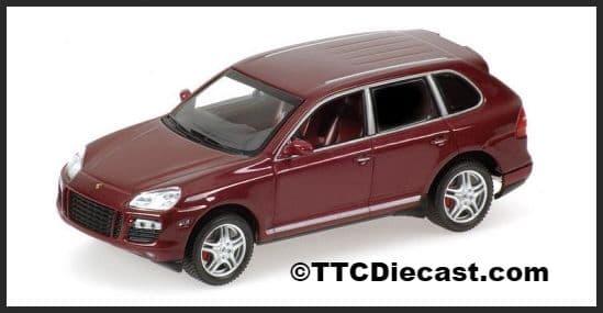 MINICHAMPS 400 066270 - Porsche Cayenne Turbo 2006 - Red Metallic