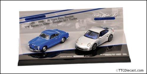 MINICHAMPS 402 902010 - Porsche 911 VW Karmann Ghia Coupe 20 year Set