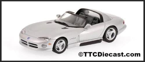 MINICHAMPS 430 144034 - Dodge Viper Cabrio 1993 - Silver