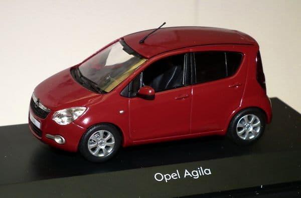 OPE 1088095 -  1:43 SCALE OPEL / VAUXHALL AGILA MK2 2008 - RED - DEALER PACKAGE