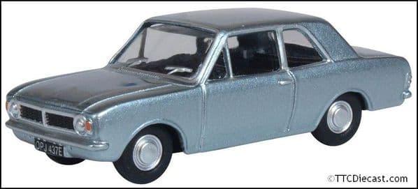 OXFORD 76COR2009 Ford Cortina MkII Blue Mink 1:76 Scale