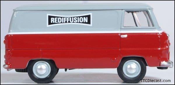 OXFORD 76FDE015 Ford 400E Van Rediffusion, 1/76 Scale