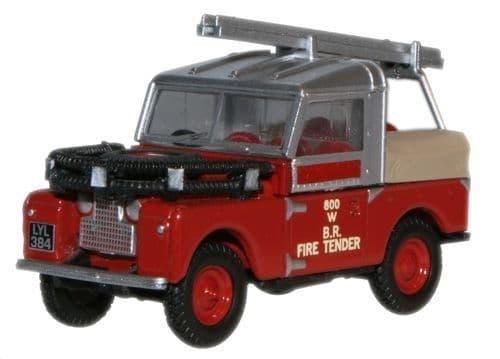 "OXFORD 76LAN188015 Land Rover 88"""" British Rail Fire Tender"