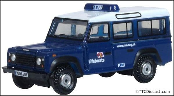OXFORD NDEF014 Land Rover Defender Station Wagon RNLI 1:148 Scale
