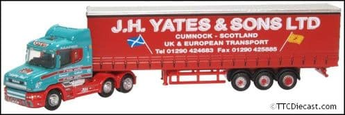 OXFORD NTCAB008 Scania T Cab Curtainside J H Yates & Sons