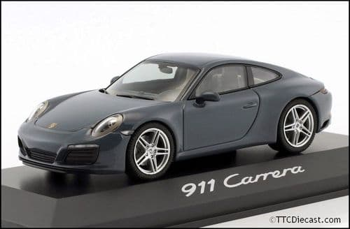 Porsche Dealer WAP0201160G 1:43 Scale Porsche 911 (991 II) Carrera Coupe 2016 Graphite Blue