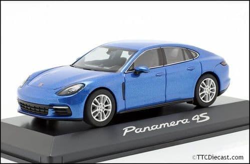 Porsche Dealer WAP0207210B 1:43 Scale Porsche Panamera 4S 2nd Generation 2016 Saphire Blue Metallic