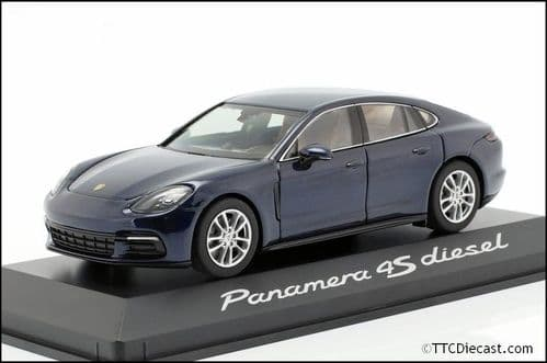 Porsche Dealer WAP0207230B 1:43 Scale Porsche Panamera 4S Diesel 2nd Generation 2016 Blue Metallic