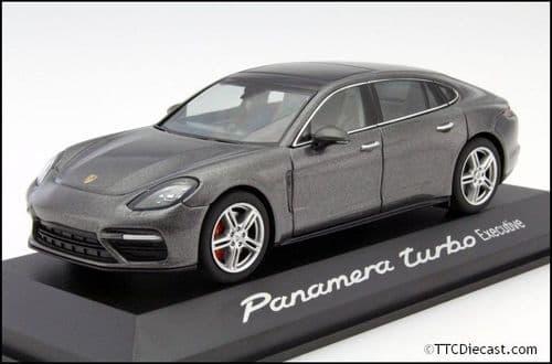 Porsche Dealer WAP0207500GY 1:43 Scale Porsche Panamera Turbo 2nd Generation Executive Grey Metallic
