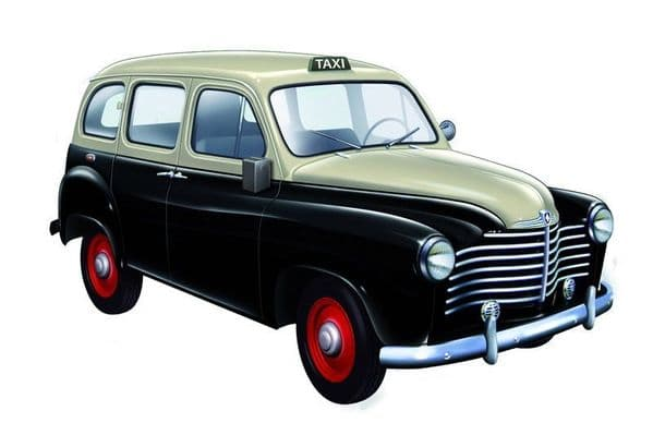 SOLIDO 143121 -  1:43 SCALE RENAULT COLORALE TAXI 1953