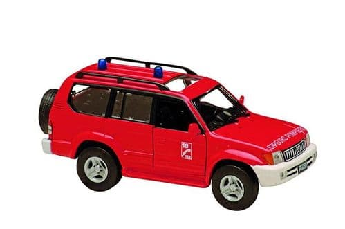 SOLIDO 150107 -  1:43 SCALE TOYOTA LAND CRUISER - SAPEURS POMPIER