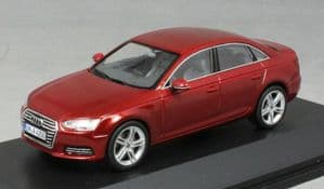 Spark 5011504123 - 1:43 Scale Audi A4 Matador Red - Audi Dealer Packaging