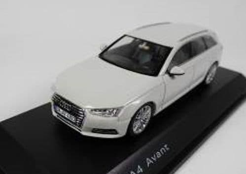 Spark 5011504213 - 1:43 Scale Audi A4 Avant Glacier White - Audi Dealer Packaging