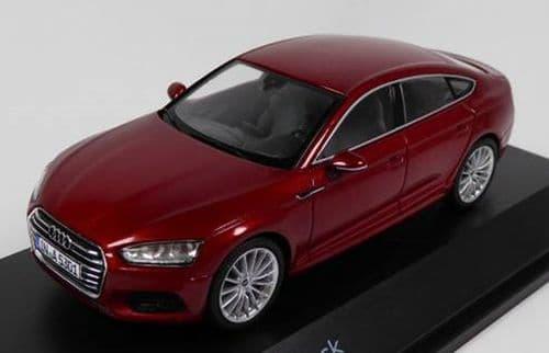 Spark 5011605032 - 1:43 Scale Audi A5 Sportback - Matador Red - Audi Main Dealer Packaging