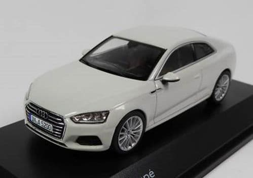 Spark 5011605431 - 1:43 Scale Audi A5 Coupe - Glacier White - Audi Main Dealer Packaging