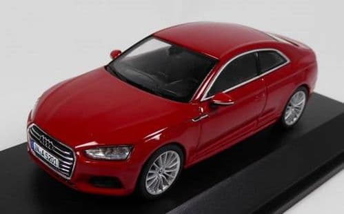 Spark 5011605432 - 1:43 Scale Audi A5 Coupe - Tango Red - Audi Main Dealer Packaging