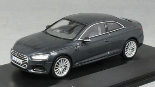 Spark 5011605433 - 1:43 Scale Audi A5 Coupe Manhattan grey - Audi Dealer Packaging