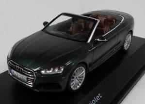 Spark 5011705333 - 1:43 Scale Audi A5 Cabriolet - Gotland Green - Audi Main Dealer Packaging