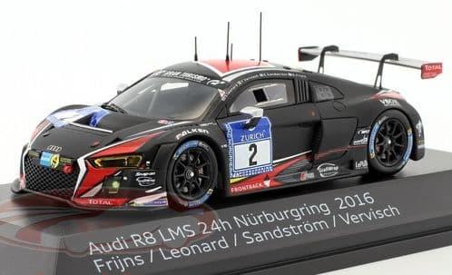 Spark 5021600331 - 1:43 Scale Audi R8LMS #2 Nurburgring '16 Frijns - Audi Dealer Packaging
