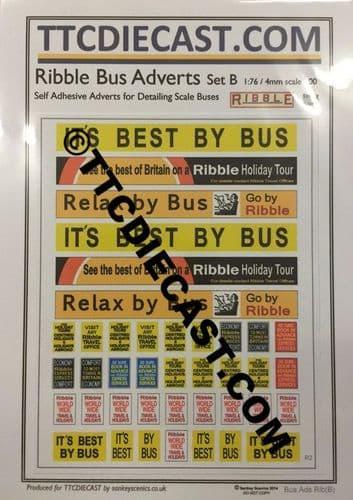 TTCDECALSRIBBLEB - RIBBLE BUS DECAL SET B