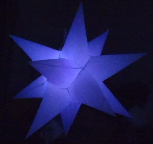 1 x Inflatable Star - 3ft - white with wireless remote and colour changing LEDs