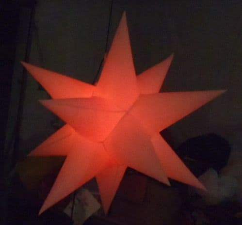 1 x Inflatable Star - 5ft - white with wireless remote and colour changing LEDs