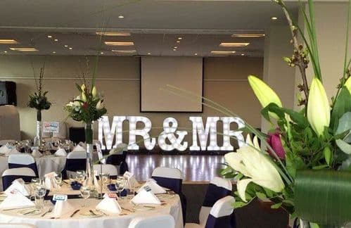 3ft tall light up MR & MRS marquee letters set