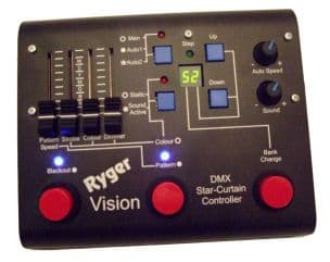 Ryger vision 2 chauvet motion drape and starvision LED vision curtain DMX controller