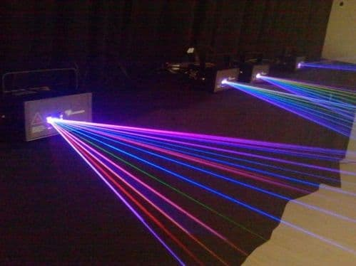 showlas XS500 RGB colour laser 500mw ILDA animation laser