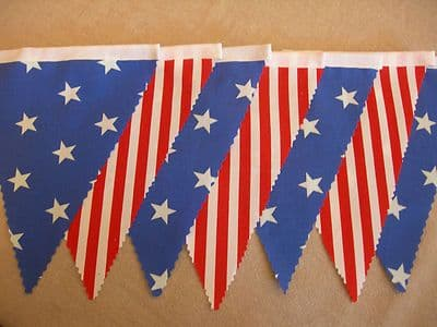 BUNTING Thanksgiving - American Style - 'Stars & Stripes' - 3m, 5m or 10m