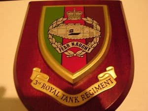 3rd Bn The Royal Tank Regiment Military Wall Plaque