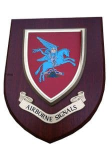 Airborne Signals Regimental Military Wall Plaque Mess Shield