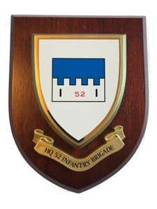 HQ 52 Infantry Brigade Military Wall Plaque