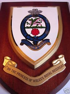 Princess of Wales 1st Bn Royal Regiment Welsh Military Wall Plaque Shield